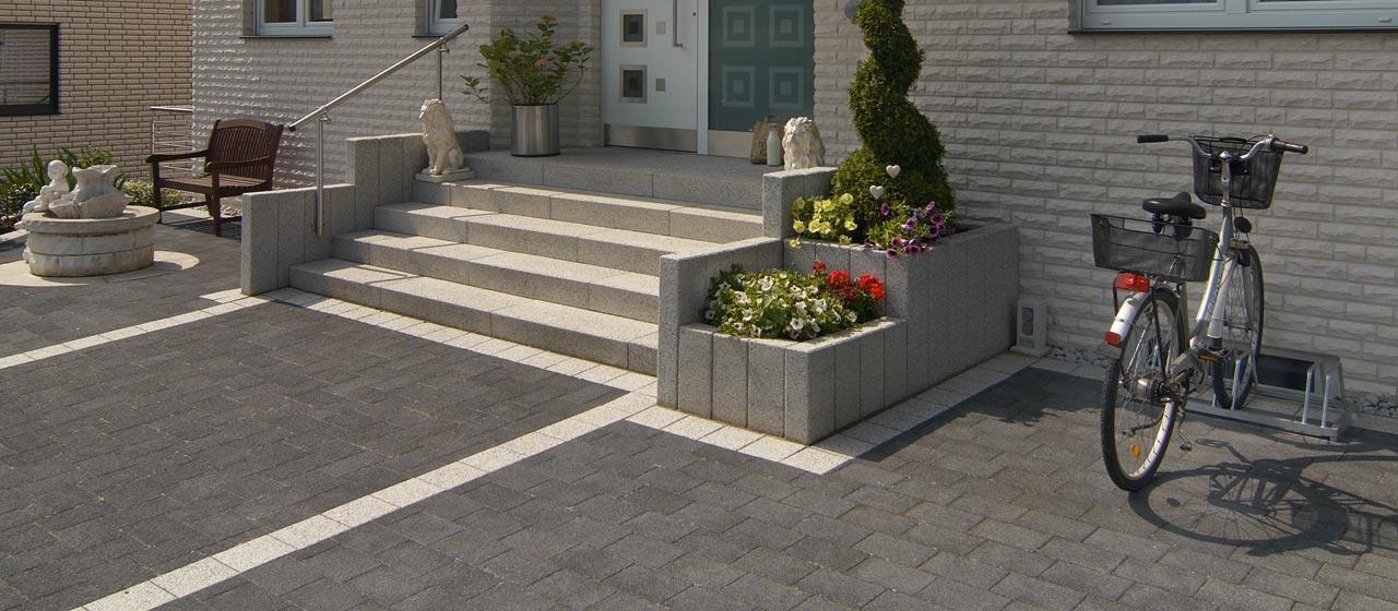 Pflastersteine für den Eingangsbereich | Berger Bauelemente Barsinghausen